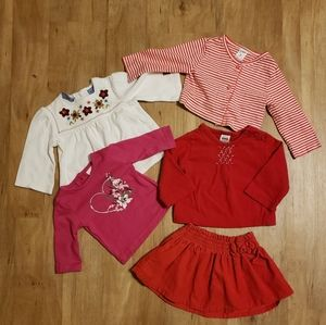 Lot of 5 Baby Girl Clothes 3-6 Months